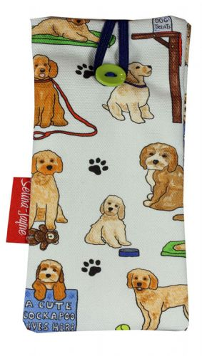Selina-Jayne Cockapoo Dogs Limited Edition Designer Soft Glasses Case